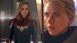 Scarlett Johansson y Brie Larson presumen de