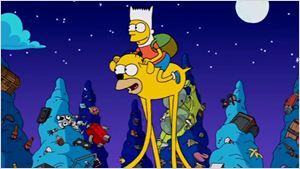 'Los Simpson' homenajean a 'Hora de Aventuras' en su nueva intro
