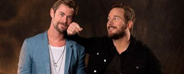 Chris Pratt y Chris Hemsworth son el 'bromance' definitivo