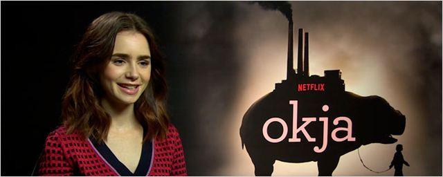 """Lily Collins de 'Okja': """"Esta película te toca realmente el corazón y te hace llorar en momentos que no esperas"""""""