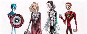 'Los vengadores': Así serían los superhéroes en el universo de Tim Burton