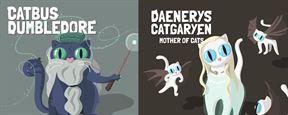 12 de las mejores series y películas representadas por gatos en estas divertidas ilustraciones