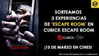 ¡SORTEAMOS 3 EXPERIENCIAS EN CUBICK ESCAPE ROOM CON MOTIVO DEL ESTRENO DE 'ESCAPE ROOM'!