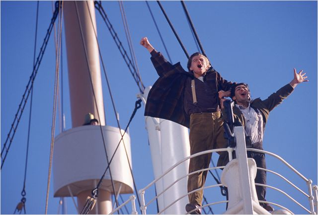 Titanic : foto Danny Nucci, James Cameron, Leonardo DiCaprio