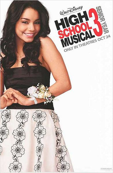 High School Musical 3: Fin de curso : cartel Kenny Ortega, Vanessa Hudgens