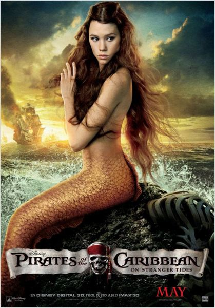 Piratas del Caribe: En mareas misteriosas : cartel Astrid Berges-Frisbey, Rob Marshall