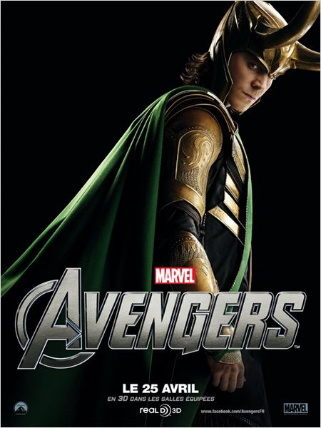 Marvel Los Vengadores : cartel Joss Whedon, Tom Hiddleston