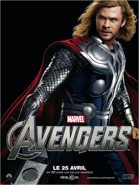 Marvel Los Vengadores : cartel Chris Hemsworth, Joss Whedon
