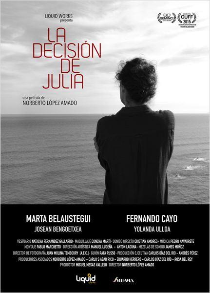La decisión de Julia : Cartel