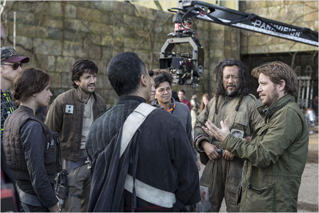 Rogue One: Una historia de Star Wars : Foto Diego Luna, Donnie Yen, Felicity Jones, Gareth Edwards (II), Jiang Wen