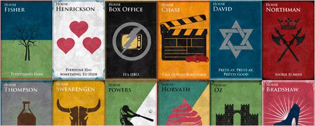 Las series de HBO como casas de 'Juego de Tronos'