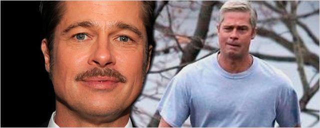 'War Machine': Brad Pitt, irreconocible en el rodaje de su última película