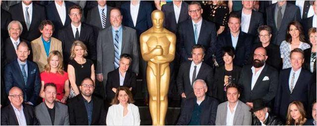 Jennifer Lawrence, Leonardo DiCaprio y el resto de nominados al Oscar posan en la foto grupal